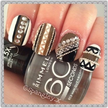 Randomly Simple nail art by Nicole Louise