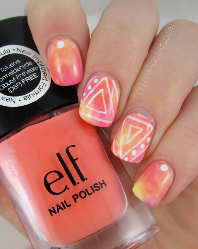 Triangles nail art by Restons polish