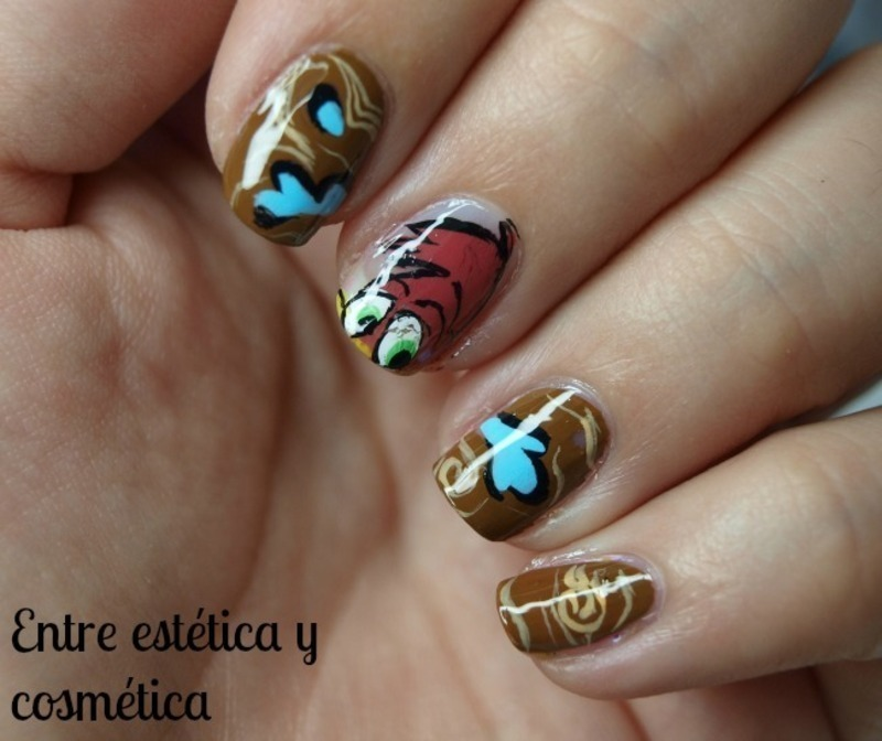 Woody Woodpecker Nails nail art by MartaRuso