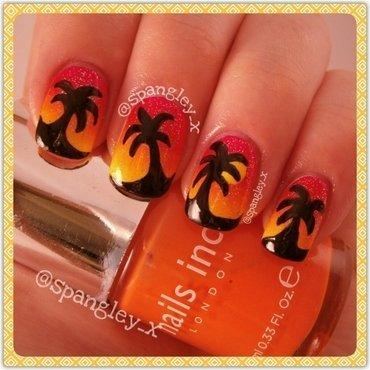 Sunset Nails nail art by Nicole Louise