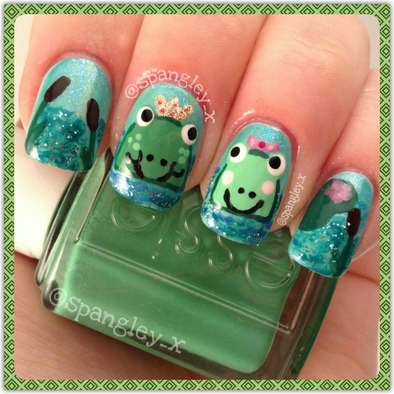 Frog Prince nail art by Nicole Louise