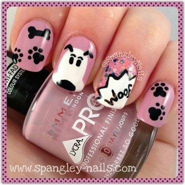Cartoon Dog Nail Art nail art by Nicole Louise