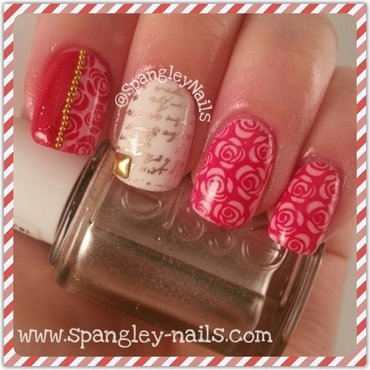 Roses Are Red nail art by Nicole Louise