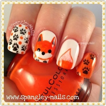 What does The Fox Say?!?! nail art by Nicole Louise