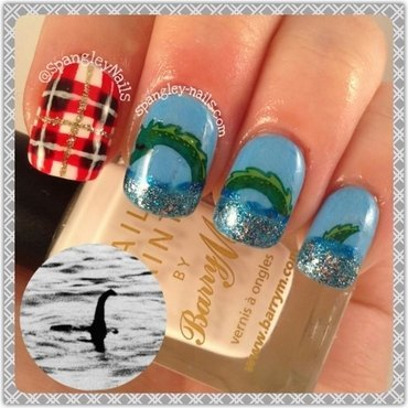 Loch Ness Monster Nail Art nail art by Nicole Louise