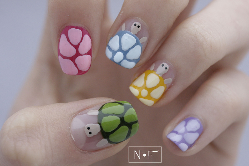 Disco turtles nail art by NerdyFleurty - Disco Turtles Nail Art By NerdyFleurty - Nailpolis: Museum Of Nail Art