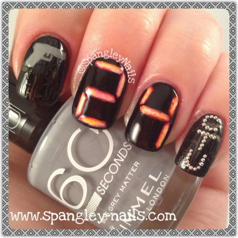24 (Jack Bauer) Nail Art! nail art by Nicole Louise