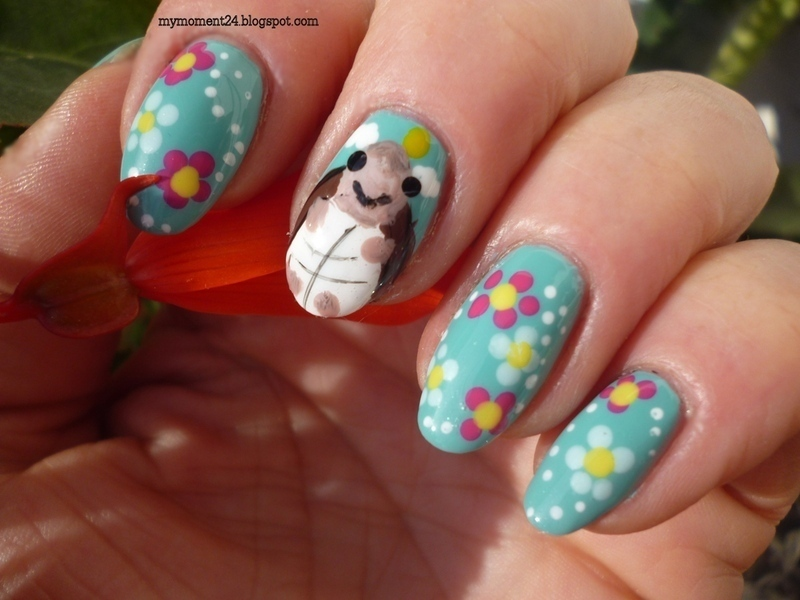 World Turtle Day nail art by T. Andi