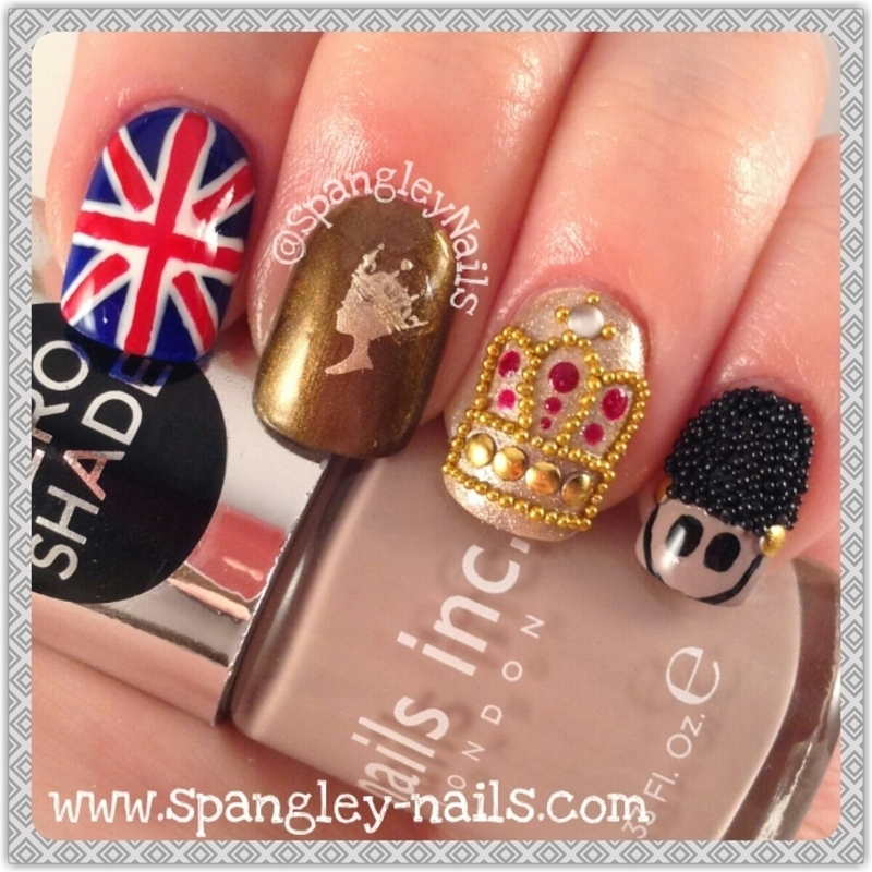 LONDON CALLING nail art by Nicole Louise