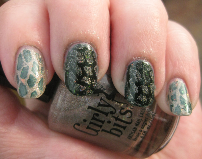 Turtle Shells nail art by Andi