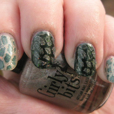 Turtle Shells nail art by Andi