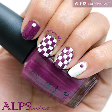 DIY - Basket Weave Nail Applique by Alpsnailart nail art by Alpsnailart