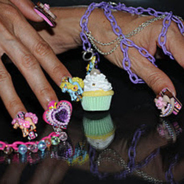 CandyLand Carousel by BellaGemaNails nail art by BellaGemaNails