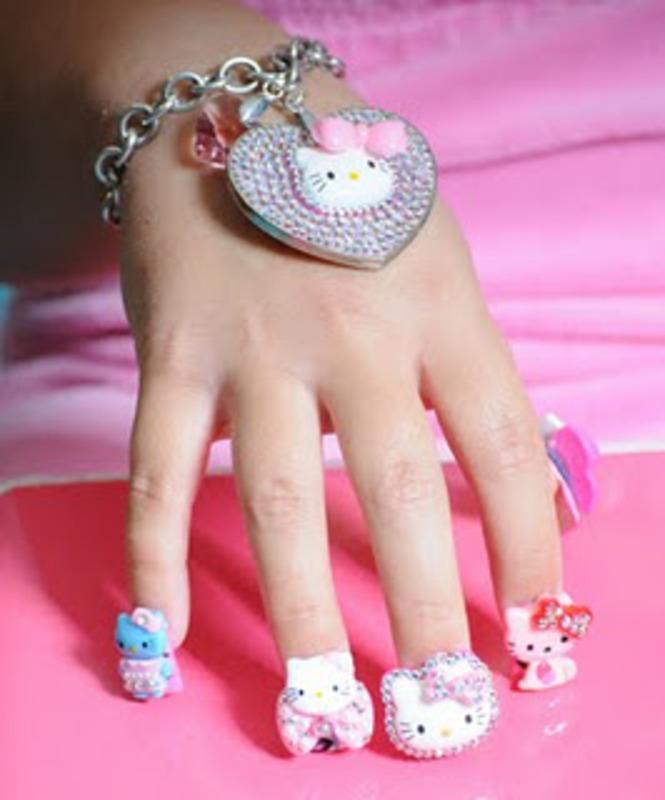 Hello Kitty by BellaGemaNails nail art by BellaGemaNails