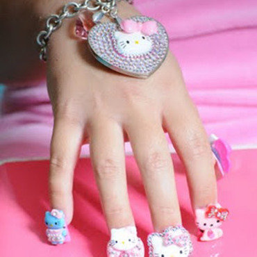Hello Kitty by BellaGemaNails nail art by BellaGemaNails