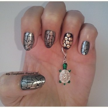 World Turtle Day nail art by Oana  Alexandru