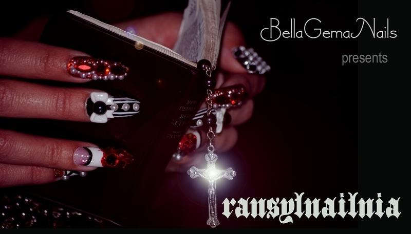 TRANSYLNAILNIA BY BELLAGEMANAILS nail art by BellaGemaNails
