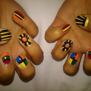 Aztec Nails by BellaGemaNails nail art by BellaGemaNails