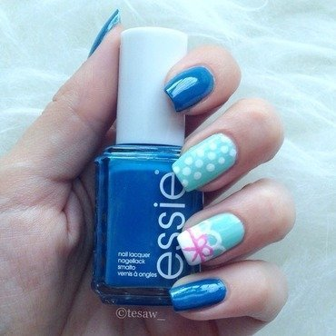 Cute Ribbon Lace nail art by tesaw