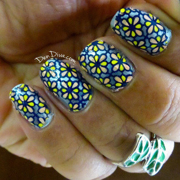 DIY Nail Decals + Stained Glass Nail Art nail art by Madhu DenDiva