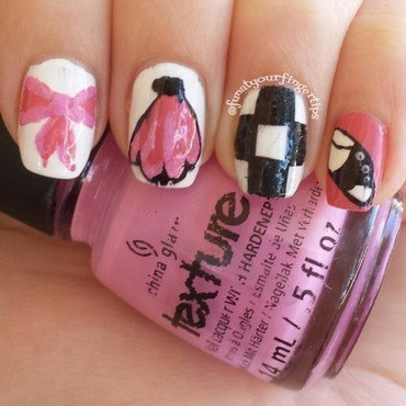 Let's Go To The Hop nail art by funatyourfingertips