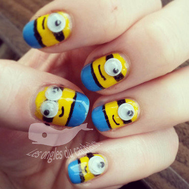 Minion ! nail art by Cachalot