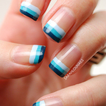 Blue Ombre Tips! nail art by Sarah S