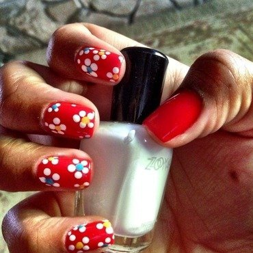 More Flowers nail art by Daniella Veronica