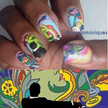 Mad Men season finale nail art by Tonya Simmons