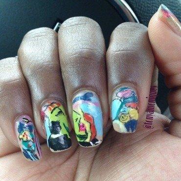Mad Men Season Finale 7 nail art by Tonya Simmons