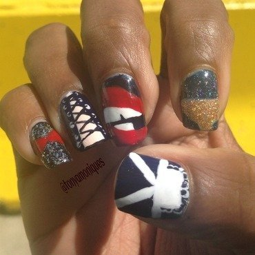 Rocky Horror nail art by Tonya Simmons