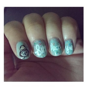 Quotesome Turtle - simplicity  nail art by JingTing Jaslynn