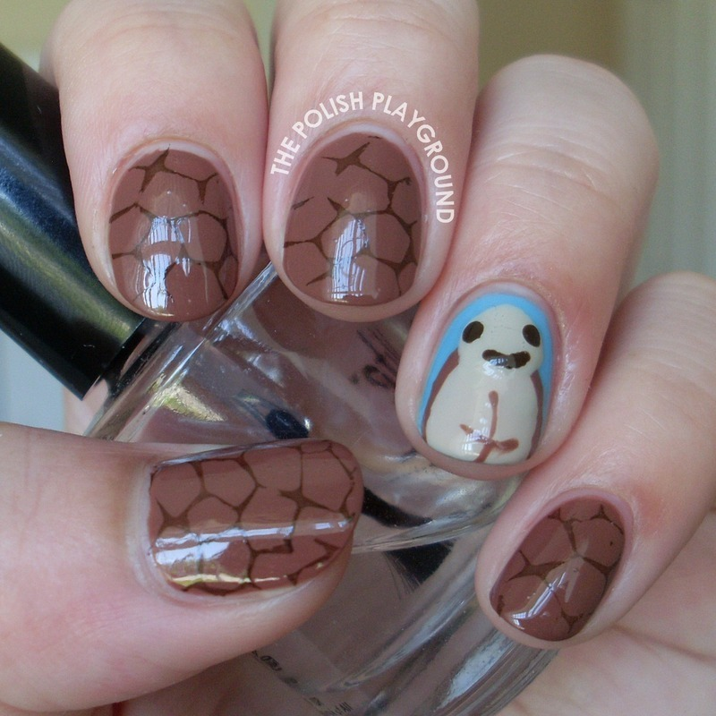 World Turtle Day nail art by Lisa N