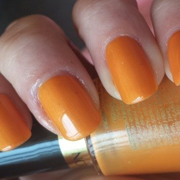 Revlon Tangerine Swatch by lazy nail blogger