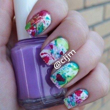 Splatter nail art by cijm