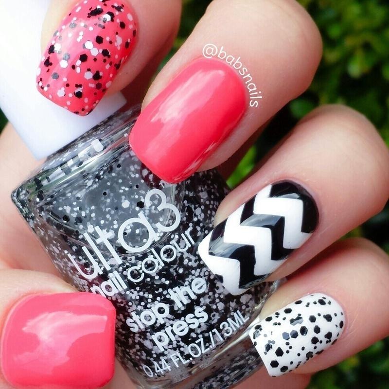 Mix 'n' Match mani nail art by Brooke (babs)