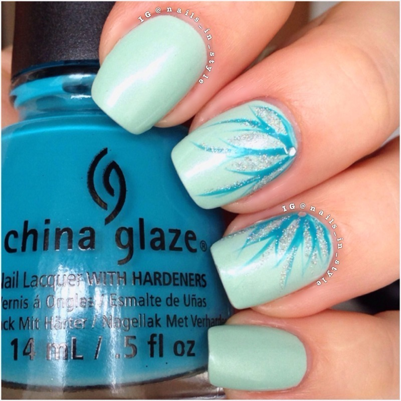 Sparkle on Blue nail art by Nails_In_Style