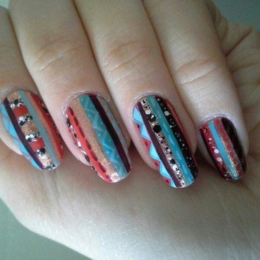 Vasare nail art by grapegatsby