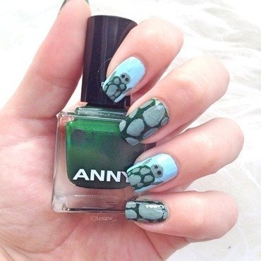 World turtle day nail art by tesaw