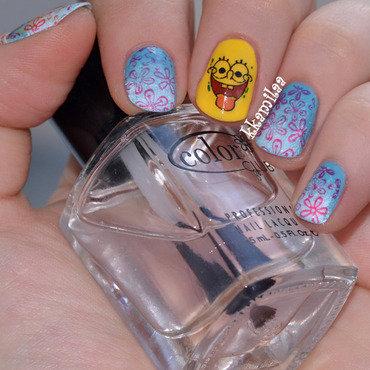 Spongebob Squarepants nail art by Kamila
