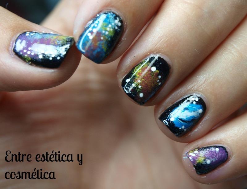 Galaxy Nails nail art by MartaRuso