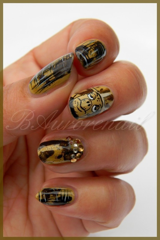 Papy tortue nail art by BAurorenail