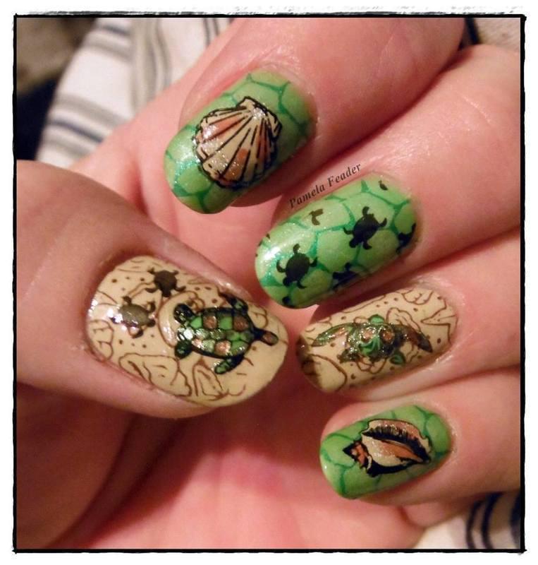 World Turtle Day 2014 nail art by Pamela Feader - Nailpolis: Museum ...