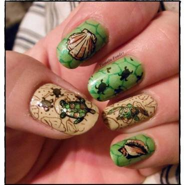World Turtle Day 2014 nail art by Pamela Feader