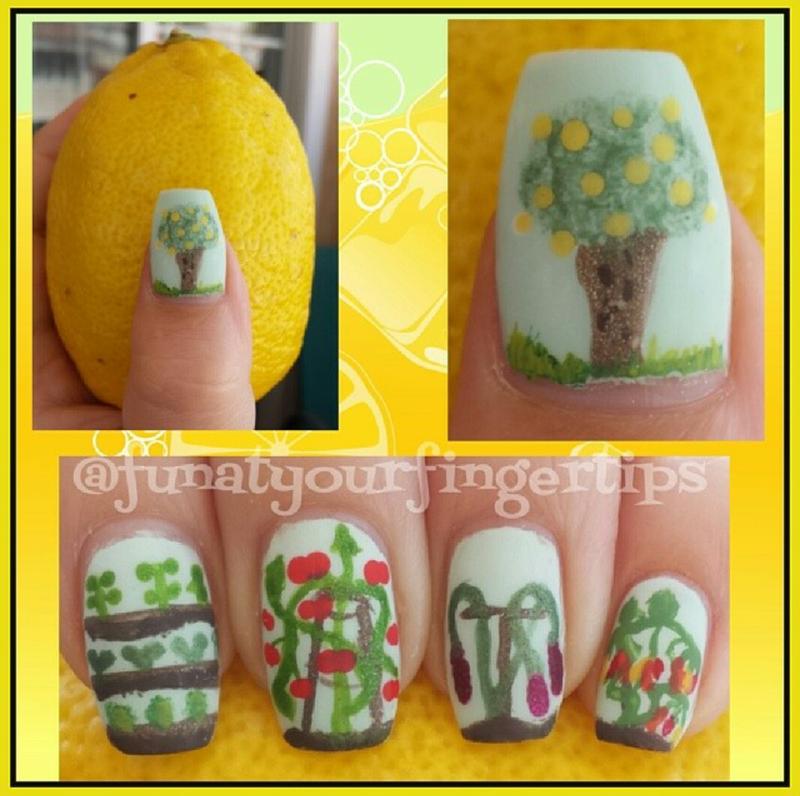 Veggie Garden nail art by funatyourfingertips