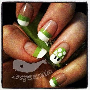 1 up  nail art by Cachalot