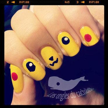 Pikachuuuuu nail art by Cachalot