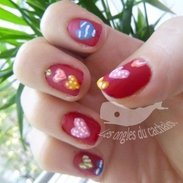 Love love love ! nail art by Cachalot
