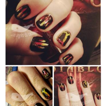 Diablo III :D nail art by Cachalot