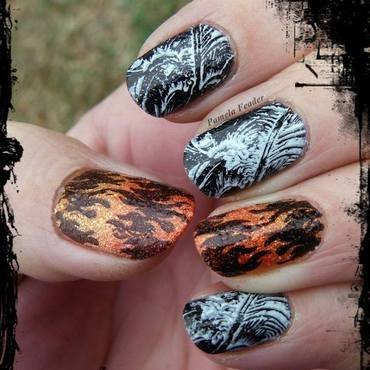 Fire and Ice nail art by Pamela Feader